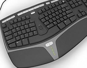 Microsoft Ergonomic Keyboard KB4000 3D model