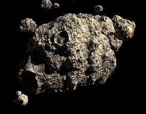 3D Asteroid Field Scene