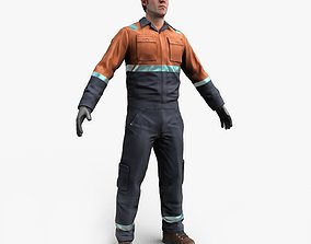 3D asset Construction Worker Animated