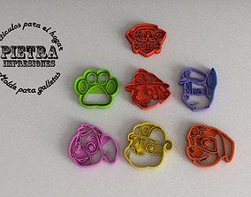 MOLDE CORTANTE PARA GALLETAS FONDANT PAW 3D print model