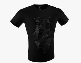 Black T-shirt 3D asset