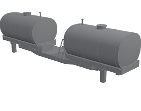 Front Chem Tanks For 9R Tractor 3D model