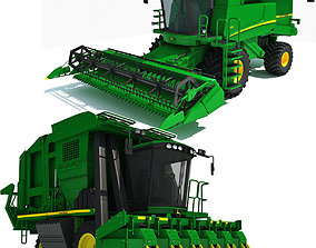 3D Collection of Green 2 Combines