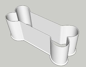 Bone Outline Cookie Cutter 7 inches tall 3D print model