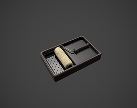 Clean Paint Roller and Tray 3D asset