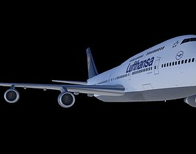 airliner 3D model Boeing 747-400