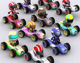 3DRT-Chibii racers - retro cars animated