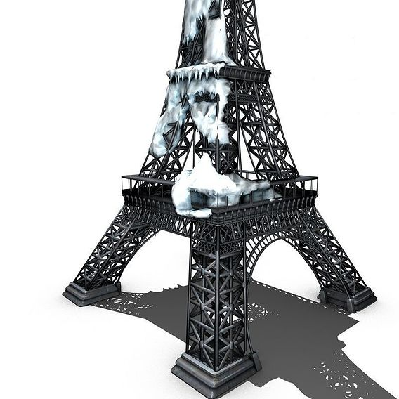 Frozen Tower Eiffel