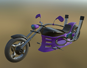 3D asset Chopper 01 PBR
