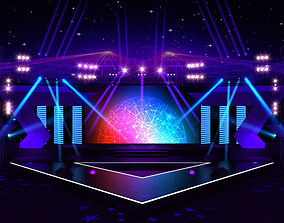 Concert party carnival stage 8 3D model