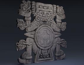 3D asset Tlaltecuhtli Statue