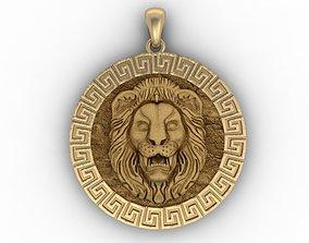 cat 3D printable model Lion pendant