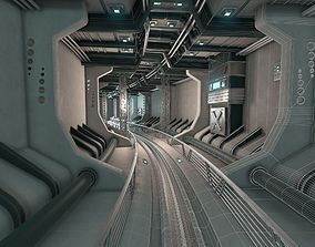 Sci Fi underground tunnel 3D model