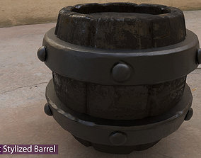 realtime Game Asset Stylized Barrel