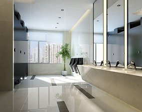 Elegant Edgy Restroom 3D