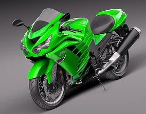 Kawasaki ZX14R 2012 Ninja 3D model