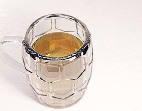 3D asset a glass of beer