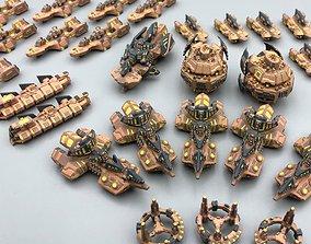 3D print model Twilight Imperium ships Mentak Coalition