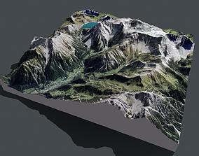 Mountain landscape Liechtenstein 3D model alps