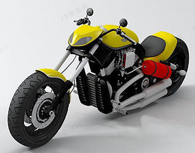 Chopper bike 3D