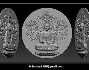 Pendant Buddha - STL- OBJ and 3D printable model