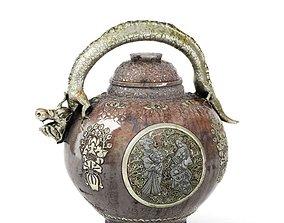 3D model Ancient Oriental Cooking Pot