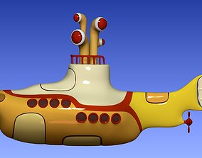 3D print model Yellow submarine The Beatles