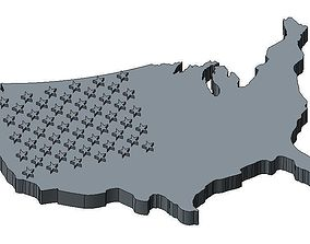 USA Flag 3D print model