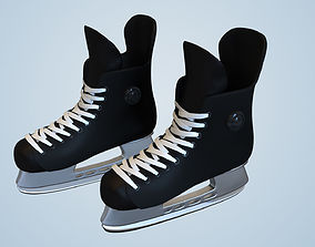 Hockey Ice Skate Player Shoes Collectible Figure 3D