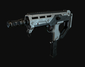3D model Game-ready SMG