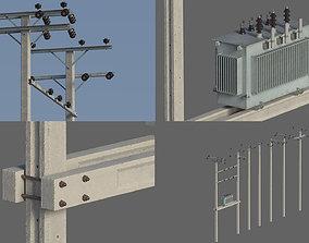3D Electric pole