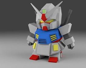 3D printable model Gundamlike SD Mecha