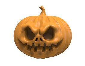 grave Halloween Pumpkin 3D print model