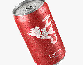 Beverage Can With Water Droplets 220ml 3D model