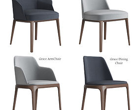 Poliform Sophie and Grace Chair Set 3D