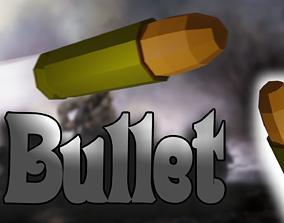 Ammo bullet 3D asset game-ready