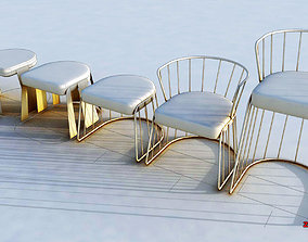 STOOL - low and high chair 3D