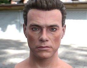 game-ready 3d model Jean Claude Van Damme head