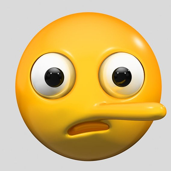 Emoji Lying Face 3D model