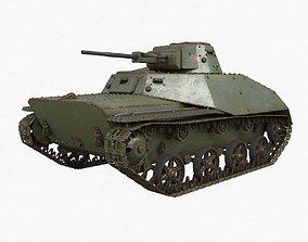 3D Tank T 40 Soviet Vray