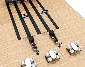 Bowling Alley 3D Model low-poly interior