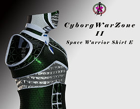 Cyborg Warzone - Space Warrior Shirt E 3D asset