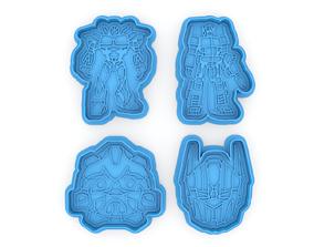 3D print model Transformers logo cookie cutters