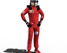 3D asset Sebastian Vettel 2018