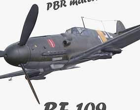 game-ready BF-109 German fighter PBR materials 3d model 3D