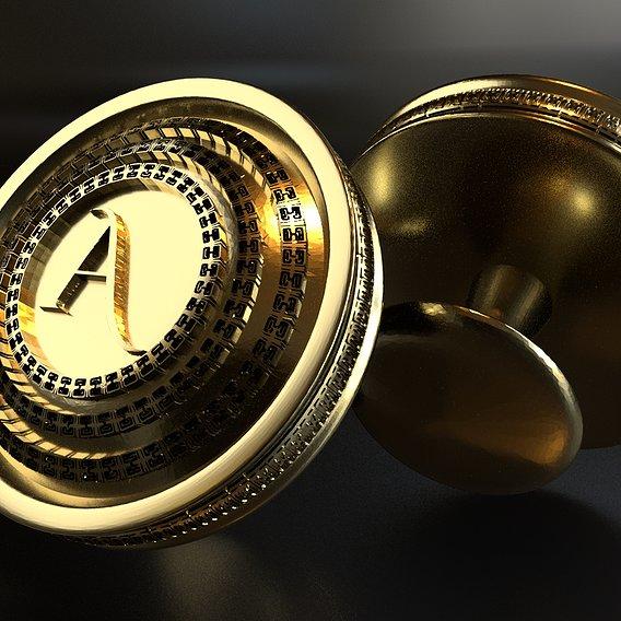 Luxury Cufflinks with Alphabet A on it