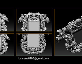 Mirror frame 3d - CNC machine - 3D CNC baroque