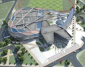 3D asset Sports Complex 01
