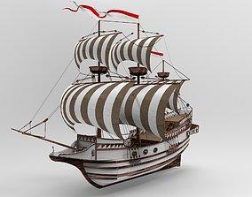 captain 3D model Sailboat