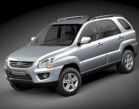2008 Kia Sportage 3D model